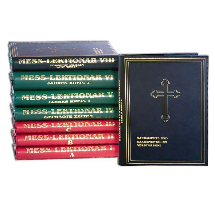 Ledereinband für Messlektionar in 3 Farben