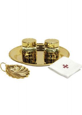 Taufgarnitur Set mit Muschel und Lavabotuch