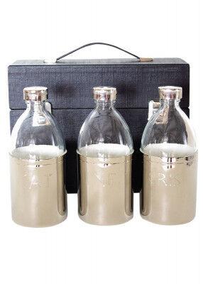 Ölgefäßgarnitur: 0,5 l Glasflasche