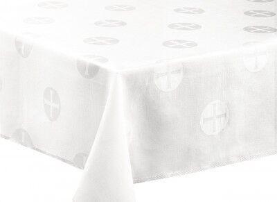 Altartuchleinen mit gewebtem Hostien-Motiv