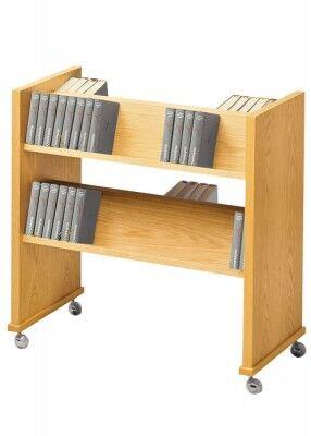 Gesangbuchwagen zweireihig: für 80 Bücher
