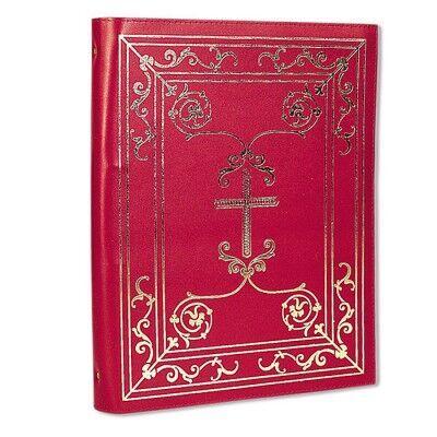 Ringbuchmappe aus rotem Leder DIN A 4