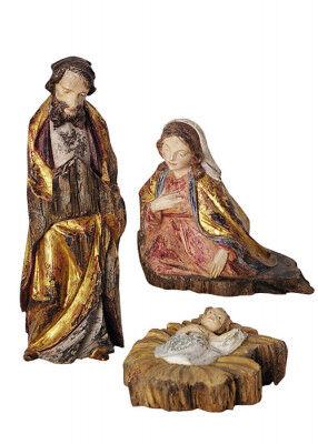 Heilige Familie, handgeschnitzt von Künstlerhand: 30 cm