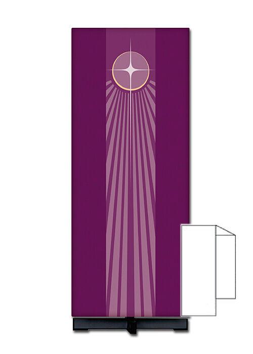 Ambotuch mit Motiv Stern von Bethlehem in Drucktechnik