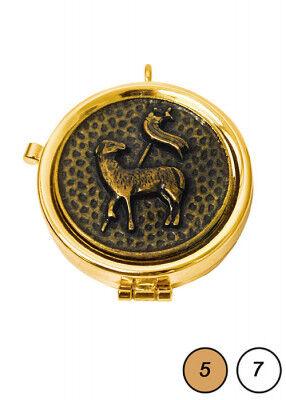 Pyxis mit brüniertem Dekor: Lamm Gottes