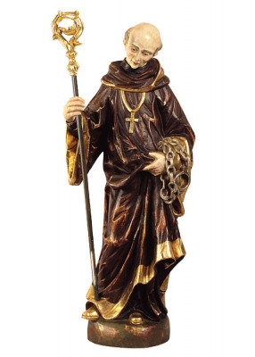 Heiliger Leonhard, Holz antik gefasst