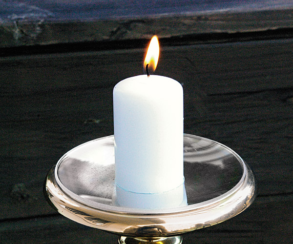Tropfenfänger für Kerzen