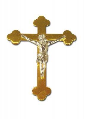Altarliegekreuz mit versilbertem Corpus: 26 cm
