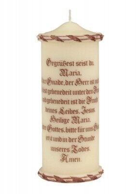Gebetskerze Ave Maria: 22 cm