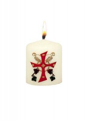 Osterstumpen mit eucharistischer Darstellung: 6 x 5 cm
