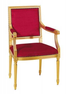 Sessel mit vergoldeter Oberfläche