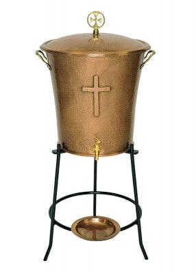 Weihwasserbehälter aus Kupfer