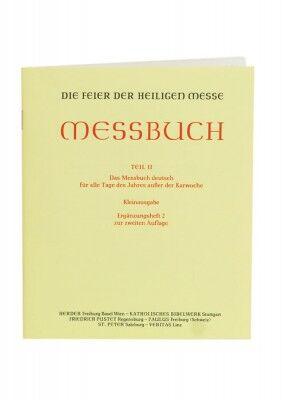 Supplement: Die Feier der Heiligen Messe - Messbuch Teil II