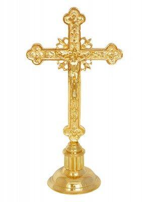 Altarkreuz mit floralem Muster: 27 cm