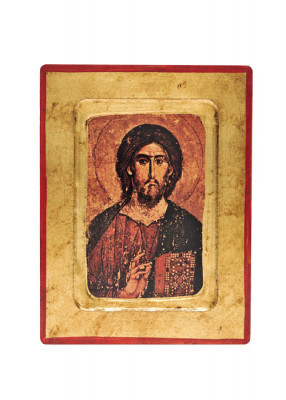 Ikonendruck auf Holz: Christus Erlöser