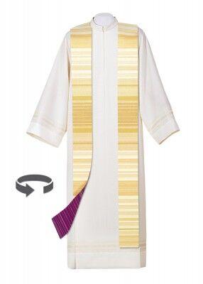Wendestola mit Fadenfärbung violett-weiß