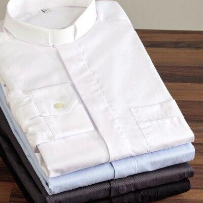 Collarhemd Langarm in weiß, hellblau, grau, schwarz