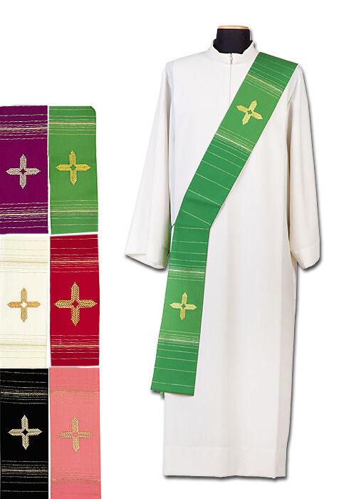 Diakonstola mit gesticktem Kreuz