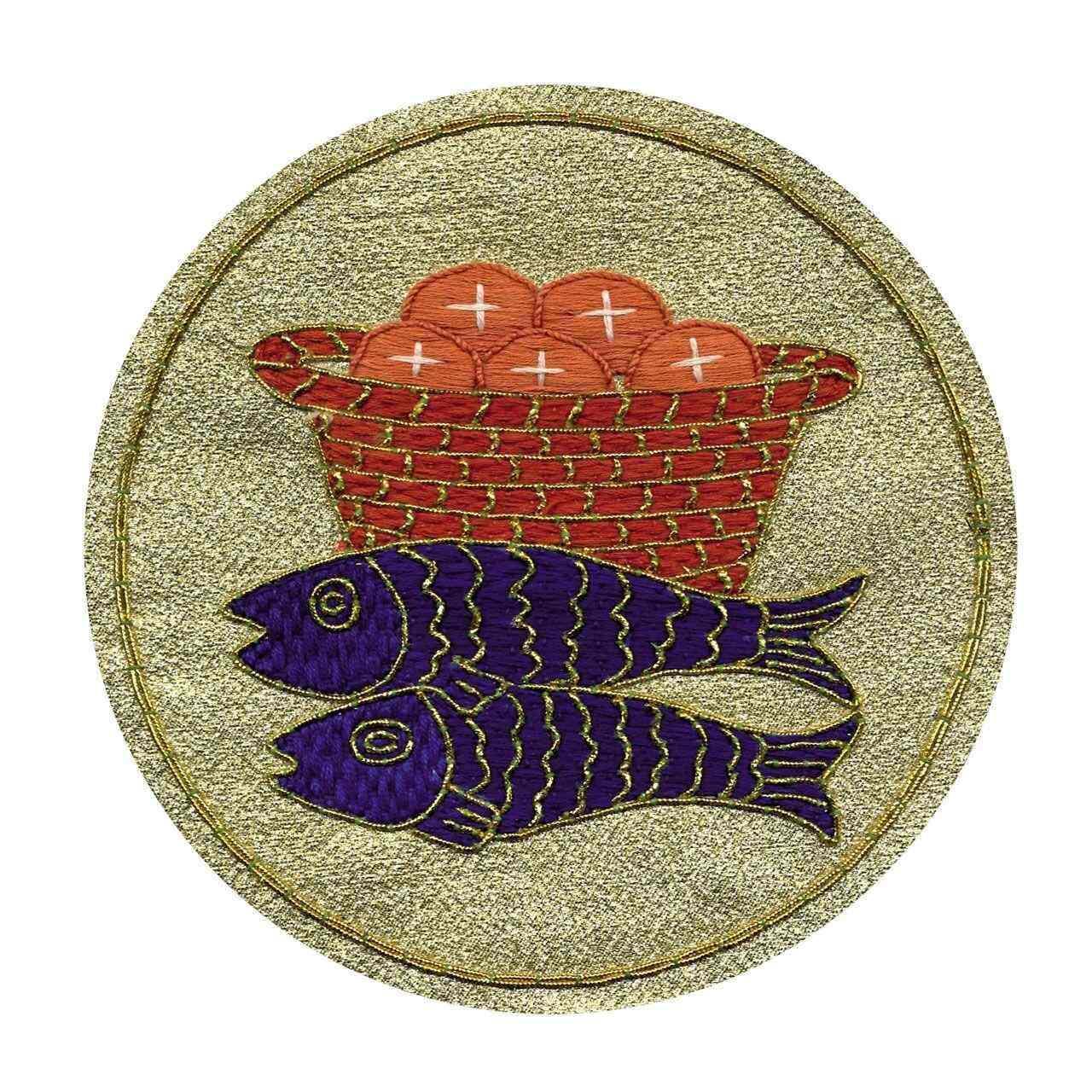 Emblem Brote und Fische zur Dekoration der eigenen Paramente