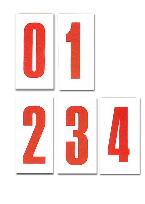 Nummerntafeln rot: 11 cm