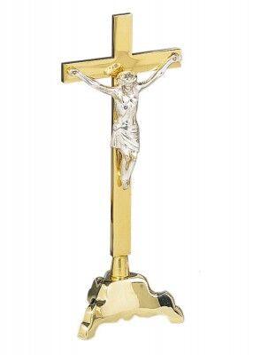Altarkreuz mit versilbertem Corpus