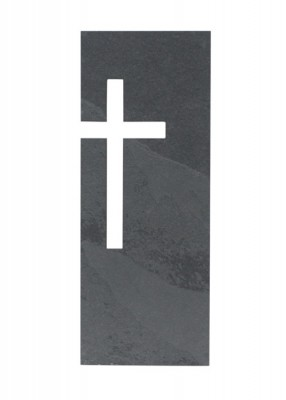 Wandkreuz aus Schiefer
