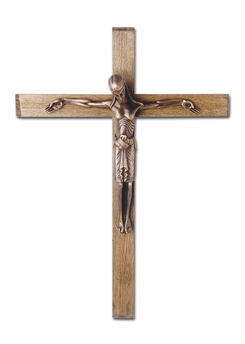 Passionskreuz mit Corpus aus Bronze: 90 cm
