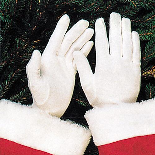 Weiße Nikolaus-Handschuhe
