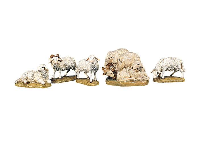 Weihnachtskrippe ORIENT: Schaf äsend